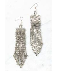 South Moon Under - Silver Seed Bead Tassel Earrings - Lyst