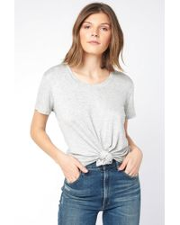 South Moon Under - Knit Knot Crop Top - Lyst