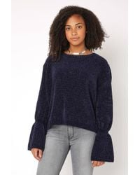 South Moon Under - Chenille Bell Sleeve Pullover - Lyst