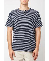 South Moon Under - Striped Henley Shirt - Lyst