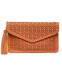 South Moon Under - Geometric Cut Out Foldover Clutch - Lyst