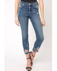 South Moon Under - Sophie Hi Rise Skinny Crop Jean In Paradox - Lyst
