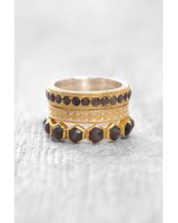 South Moon Under - Triple Stack Grey Saphire Ring Set - Lyst
