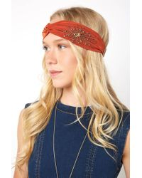 South Moon Under - Beaded Twist Front Turban - Lyst