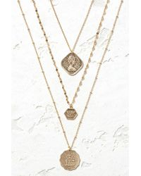 South Moon Under - Gold Triple Layer Coin Necklace - Lyst