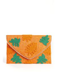 South Moon Under - Palm Beaded Clutch - Lyst