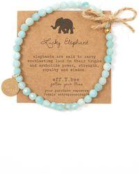 eff.Y.bee - Mini Bliss Amazonite Beaded Elephant Charm Bracelet - Lyst