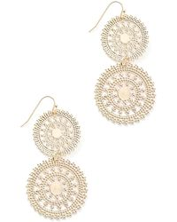 South Moon Under - Filigree Disc Earrings - Lyst