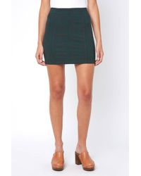 South Moon Under - Modern Femme Tartan Plaid Mini Skirt - Lyst