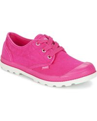 Palladium - Us Oxford Women's Shoes (trainers) In Pink - Lyst