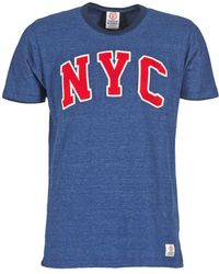 Franklin & Marshall - Kane Men's T Shirt In Blue - Lyst