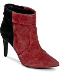 IKKS - Miranda Revers Women's Low Ankle Boots In Red - Lyst
