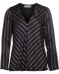 Jucca - Black, Beige And Blue Striped Jacket Women's Jumper In Black - Lyst