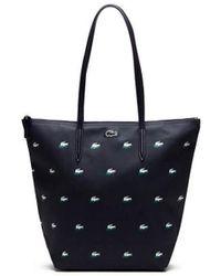 Lacoste - VERTICAL SHOPPING BAG femmes Sac à main en bleu - Lyst