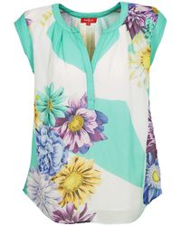 Rene' Derhy - Caoutchouc Women's Vest Top In Multicolour - Lyst