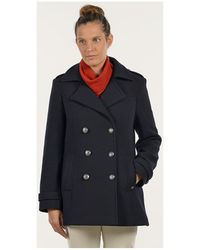 Mat De Misaine - Pea Jacket Florence Navy Blue Women's Coat In Blue - Lyst