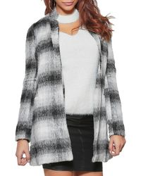 Infinie Passion - Grey Mid-length Coat 00w060747 Grey Women's Coat In Grey - Lyst
