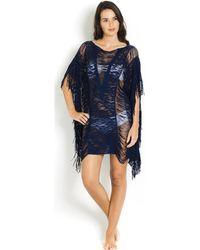 Pain De Sucre - Cover-ups Lace Elise Navy - Lace Poncho Women's Tunic Dress In Blue - Lyst