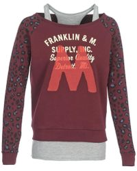 Franklin & Marshall - Manteco Women's Sweatshirt In Red - Lyst