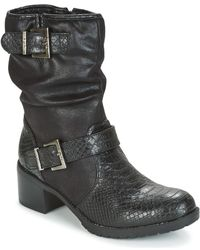 Les P'tites Bombes - Elina Women's Low Ankle Boots In Black - Lyst
