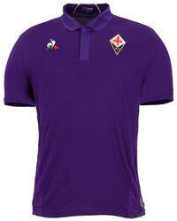 Le Coq Sportif - 2018-2019 Fiorentina Home Football Shirt Women's Polo Shirt In Purple - Lyst