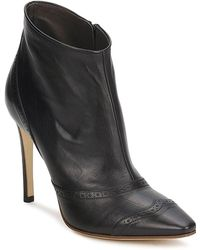 Michel Perry - 13201 Women's Low Boots In Black - Lyst