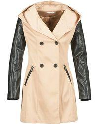 Moony Mood - Ecila Women's Trench Coat In Beige - Lyst