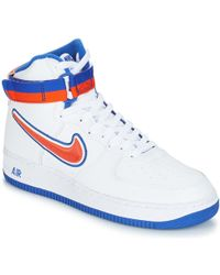 8e323b49b66c63 Nike Air Jordan 1 Mid Men s Shoes (high-top Trainers) In White in ...