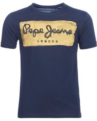 Pepe Jeans - Charing Men's T Shirt In Blue - Lyst
