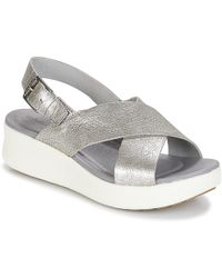 Timberland - Los Angeles Wind Slingbac Women's Sandals In Silver - Lyst