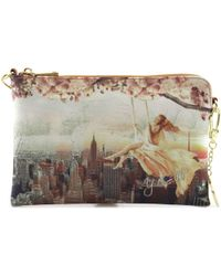 Y Not? - ? H-384 Pochette Accessories Beige Women's Pouch In Beige - Lyst