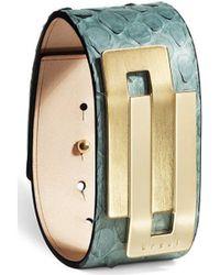 Ursul - Bracelet Embrace 26 Green / Gold Woman Autumn/winter Collection Women's Bracelet In Green - Lyst