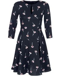 Armani Jeans - Floral Print Dress With French Sleeves - Lyst