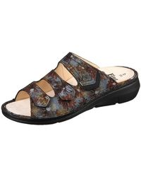 Finn Comfort - Kailua Marron Fleur Buggy Women's Mules / Casual Shoes In Brown - Lyst