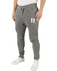 11 Degrees - Men's Core Logo Marled Joggers, Grey Men's Sportswear In Grey - Lyst