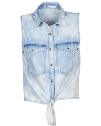 Volcom - Sick Muse Women's Short Sleeved Shirt In Blue - Lyst