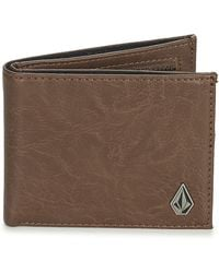 Volcom - Slim Stone Men's Purse Wallet In Brown - Lyst
