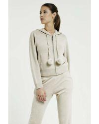 Max & Moi - Cardigan Nevada Beige Woman Autumn/winter Collection Women's Sweatshirt In Beige - Lyst