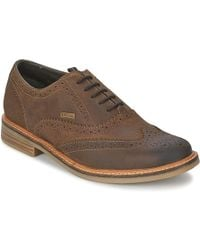 Barbour - Redcar Oxford Brogue Men's Casual Shoes In Brown - Lyst