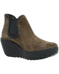 Fly London - Yat Women's Low Ankle Boots In Brown - Lyst