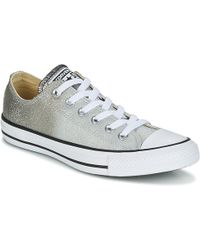 908bb810b797 Converse - Chuck Taylor All Star Ox Ombre Metallic Women s Shoes (trainers)  In Grey