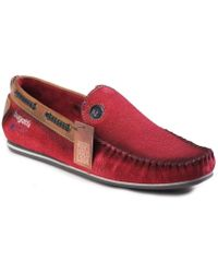 Bugatti - F066731300 Men's Loafers / Casual Shoes In Red - Lyst