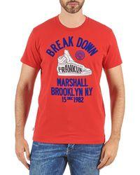 Franklin & Marshall - Prineville Men's T Shirt In Red - Lyst