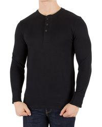 fd1fd95bfd85f Levi s - Levis Men s Longsleeved Bryant Henley T-shirt, Black Men s Long  Sleeve T