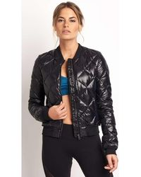Alo Yoga - Idol Bomber Jacket Women's Jacket In Black - Lyst