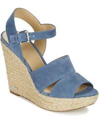 435052a59b90 MICHAEL Michael Kors - Tailor Wedge Women s Sandals In Blue - Lyst