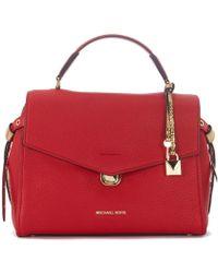 MICHAEL Michael Kors - Borsa A Mano Bristol In Pelle Rossa Women's Shoulder Bag In Red - Lyst