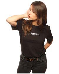 L'affaire De Rufus - Organic Cotton Round Neck T-shirt Women's T Shirt In Black - Lyst