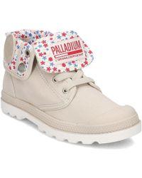 Palladium - 93314058m Women's Shoes (high-top Trainers) In Beige - Lyst