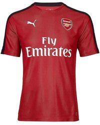 PUMA - 2018-2019 Arsenal Stadium Jersey (chilli Pepper) Men's T Shirt In Red - Lyst